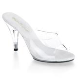 Fehér Átlátszó 11 cm CARESS-401 Papucs Női Cipők
