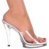 Fehér Átlátszó 12 cm FLAIR-401 Papucs Női Cipők