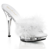Fehér Átlátszó 13 cm LIP-101-8 Plateau Papucs Női Cipők