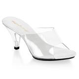 Fehér Átlátszó 8 cm BELLE-301 Papucs Női Cipők
