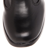 Fekete 10 cm CRYPTO-106 női csatos csizma magassarkű