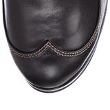 Fekete 10 cm CRYPTO-302 női csatos csizma a magassarkű