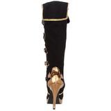 Fekete 11,5 cm ARENA-2012 női csizma a magassarkű