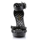 Fekete 11,5 cm BETTIE-07 női cipők a magassarkű