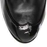 Fekete 11,5 cm COP-911 női platform bokacsizma