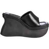Fekete 11,5 cm PACE-01 Platformos Gótikus Papucsok Női