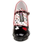 Fekete 11 cm CONTESSA-57 női cipők a magassarkű