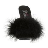 Fekete 11 cm Pleaser CARESS-401F marabu toll Papucs