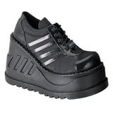 Fekete 12,5 cm STOMP-08 Platform Éksarkú Cipők
