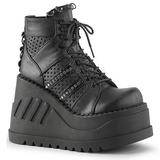 Fekete 12 cm STOMP-12 Platform Éksarkú Cipők