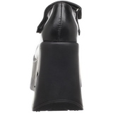 Fekete 13,5 cm DYNAMITE-03 Platform Éksarkú Cipők