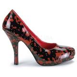 Fekete 13 cm BLOODY-12 női cipők a magassarkű