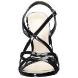Fekete 13 cm Pleaser AMUSE-13 női magassarkú szandál