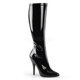 Fekete 13 cm Pleaser SEDUCE-2000 Női Csizma