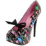 Fekete 14,5 cm Burlesque TEEZE-12-4 női cipők a magassarkű