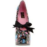 Fekete 14,5 cm TEEZE-12-4 női cipők a magassarkű