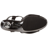 Fekete 14 cm ALLURE-609 Platform Tűsarkú Cipők