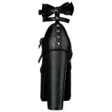 Fekete 14 cm DEMONIA TORMENT-600 Platform Gótikus Cipők