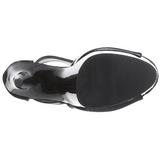 Fekete 15 cm DELIGHT-690 női platform bokacsizma
