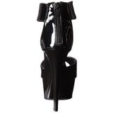 Fekete 15 cm Pleaser DELIGHT-670-3 Magassarkú Platform