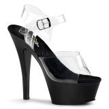 Fekete 15 cm Pleaser KISS-208 Platform Magassarkú Cipők