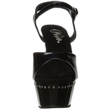 Fekete 15 cm Pleaser KISS-209LS Magassarkú Platform
