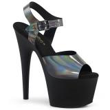 Fekete 18 cm ADORE-708N-DT Hologram platform magassarkű női
