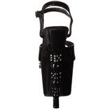 Fekete 18 cm Pleaser DICE-709-2 Magassarkú Platform