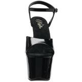 Fekete 18 cm SKY-309FH-06 női cipők a magassarkű szegecsekkel