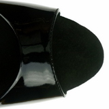 Fekete 23 cm Pleaser INFINITY-912SP Magassarkú Platform