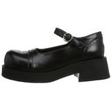 Fekete 5 cm CRUX-07 Platform Gótikus Cipők