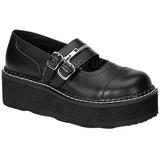 Fekete 5 cm EMILY-306 Platform Gótikus Cipők