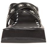 Fekete 6,5 cm FLIP-05 Platformos Gótikus Papucsok Női