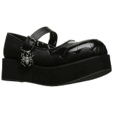Fekete 6 cm DEMONIA SPRITE-05 Platform Gótikus Cipők