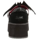 Fekete 6 cm DEMONIA SPRITE-09 Platform Gótikus Cipők