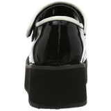 Fekete 6 cm SPRITE-01 Platform Gótikus Cipők