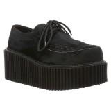 Fekete 7,5 cm CREEPER-202 Platform Creepers Cipő