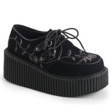 Fekete 7,5 cm CREEPER-219 Platform Creepers Cipő
