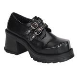 Fekete 7 cm TRUMP-101 Platform Gótikus Cipők