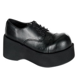 Fekete 8,5 cm DANK-101 Platform Gótikus Cipők