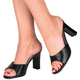 Fekete 8,5 cm Fabulicious ROMANCE-301-2 Papucs Női Cipők