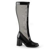 Fekete 8,5 cm GOGO-307 női halo csizma a magassarkű