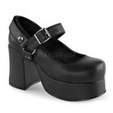Fekete 9,5 cm ABBEY-02 Platform Gótikus Cipők