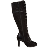 Fekete 9,5 cm GLAM-240 női csizma a magassarkű