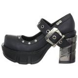 Fekete 9 cm SINISTER-59 Platform Gótikus Cipők