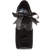 Fekete Bársony 14,5 cm TEEZE-16 női cipők a magassarkű