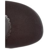 Fekete Bársony 9,5 cm GLAM-300 Overknee Csizma - Térdcsizma