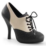 Fekete Bézs 11,5 cm CUTIEPIE-14 Oxford Női Körömcipők