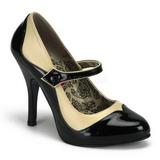 Fekete Bézs 11,5 cm TEMPT-07 női cipők a magassarkű