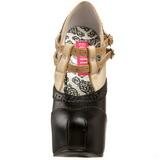 Fekete Bézs 14,5 cm Burlesque TEEZE-24 női cipők a magassarkű